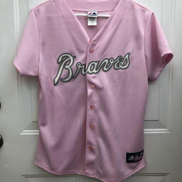 best authentic 896dd 83f80 Atlanta braves pink jersey